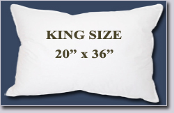 "King Size Pillow--20"" x 36"""