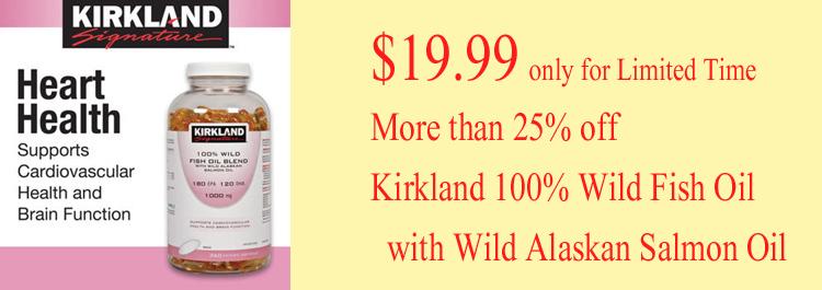 Kirkland 100% Wild Fish Oil Blend 1000mg 360softgels