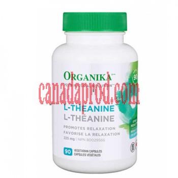 Organika L-Theanine 225 mg Vegetarian Capsules 90count
