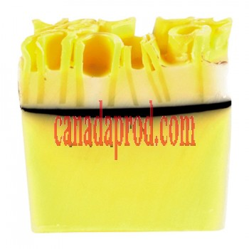 Bomb Cosmetics Lemon Meringue Handmade Soap Slice 100g