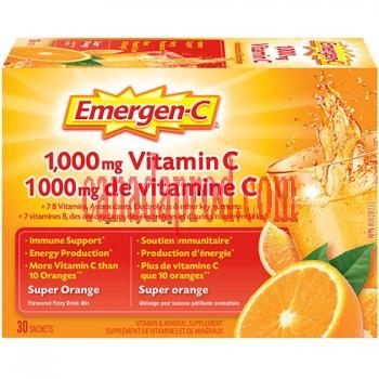 Emergen-C 1000mg Vitamin C Super Orange 30sachets